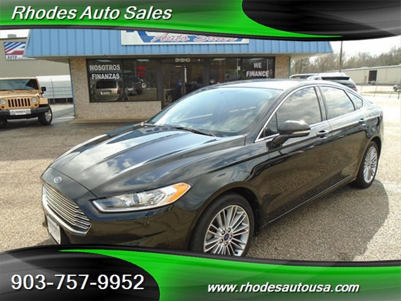 2014 Ford Fusion Se 4dr Sedan In Longview Tx Rhodes Auto Sales