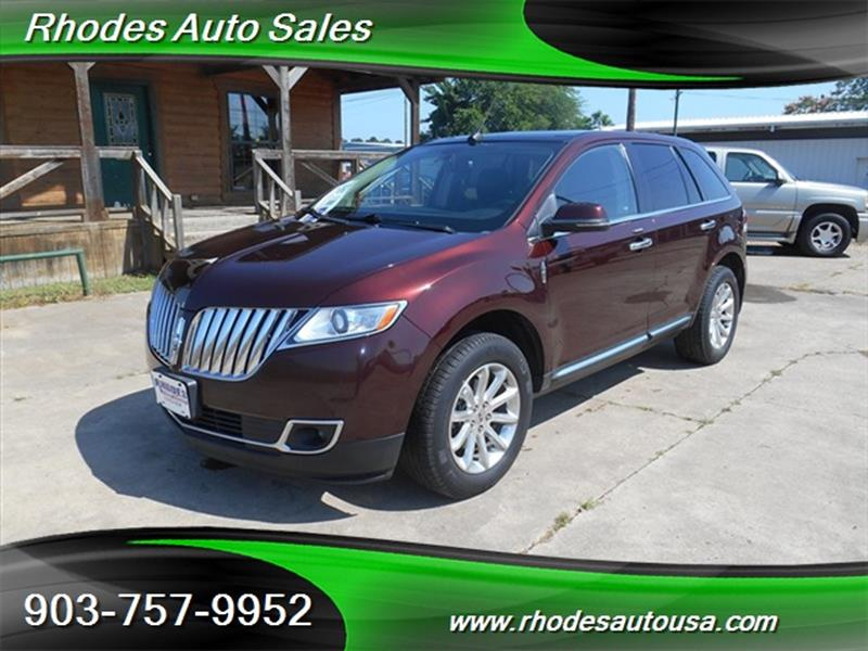 2012 Lincoln Mkx 4dr Suv In Longview Tx Rhodes Auto Sales