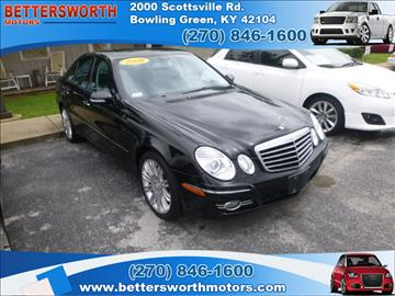 Mercedes benz e class for sale kentucky for Bettersworth motors bowling green ky