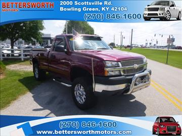 2004 chevrolet silverado 2500 for sale kentucky for Bettersworth motors bowling green ky