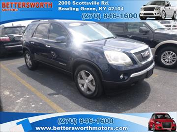 Gmc acadia for sale kentucky for Bettersworth motors bowling green ky