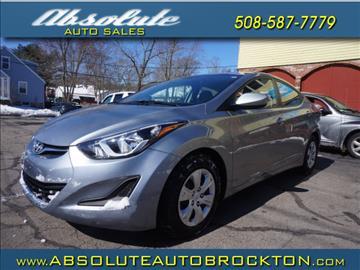2016 Hyundai Elantra for sale in Brockton, MA