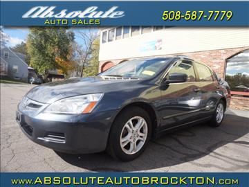 2007 Honda Accord for sale in Brockton, MA