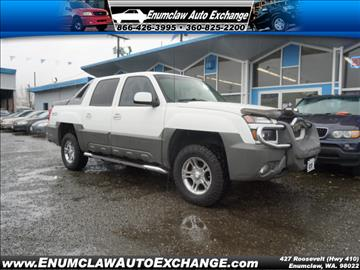 2002 Chevrolet Avalanche for sale in Enumclaw, WA