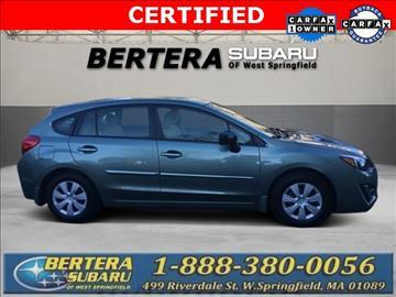 2016 Subaru Impreza for sale in West Springfield, MA