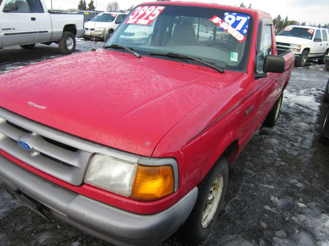 1997 FORD RANGER XL REG CAB LONG BED 2WD red we take trade-ins of all shapes and sizes paid for