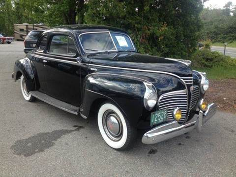 1941 plymouth deluxe for sale for Tracy motors plymouth massachusetts