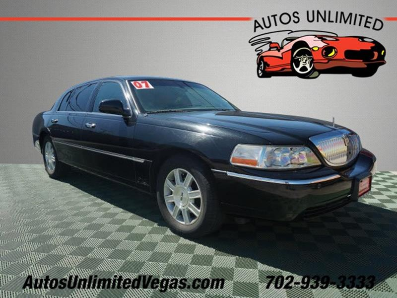 2007 Lincoln Town Car Executive L 4dr Sedan In Las Vegas Nv Autos