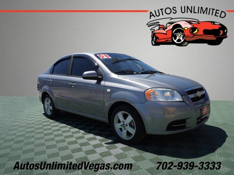 2008 Chevrolet Aveo LS 4dr Sedan   Las Vegas NV