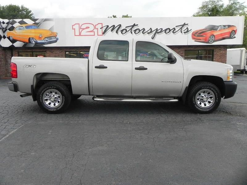 2009 chevrolet silverado 1500 4x4 work truck 4dr crew cab sb in mt zion il 121 motorsports. Black Bedroom Furniture Sets. Home Design Ideas