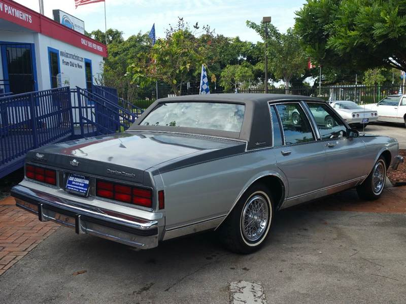 Buy Here Pay Here Miami >> 1987 Chevrolet Caprice Classic Brougham 4dr Sedan In Miami FL - Kar Connection Inc