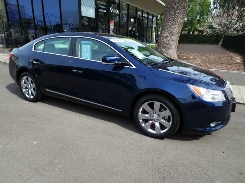 2011 BUICK LACROSSE CXL 4DR SEDAN blue extra low mileage and luxurious leather seating luxury pk