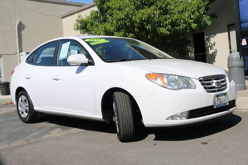 2010 HYUNDAI ELANTRA GLS 4DR SEDAN white nice economical 36 mpg hwy first car  power windowslo