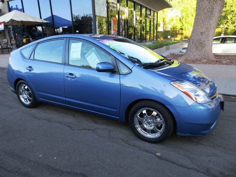 2008 TOYOTA PRIUS BASE 4DR HATCHBACK blue nicely equipped with pkg 6 navigation leather jbl so