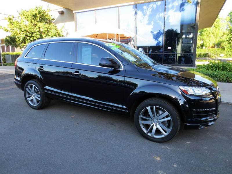 2012 AUDI Q7 30T QUATTRO PREMIUM PLUS AWD 4D black simply gorgeous and luxurious 3rd row seating
