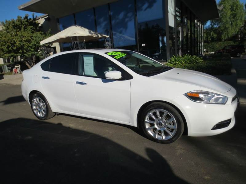 2015 DODGE DART LIMITED 4DR SEDAN white look no more like new save big buck vs buying new tru
