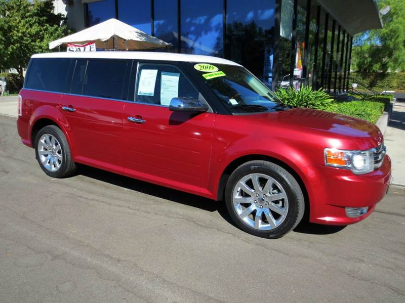 2009 FORD FLEX LIMITED CROSSOVER 4DR redfire nicely equipped with leather dual moon roofs 3rd ro
