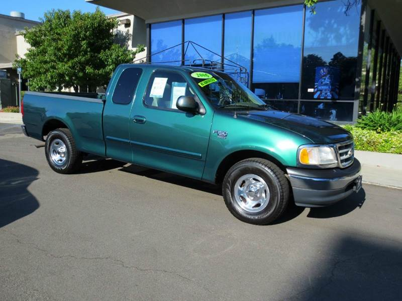 2000 FORD F-150 XLT 4DR EXTENDED CAB SB green memorial day sale  nicely equipped xlt short bed