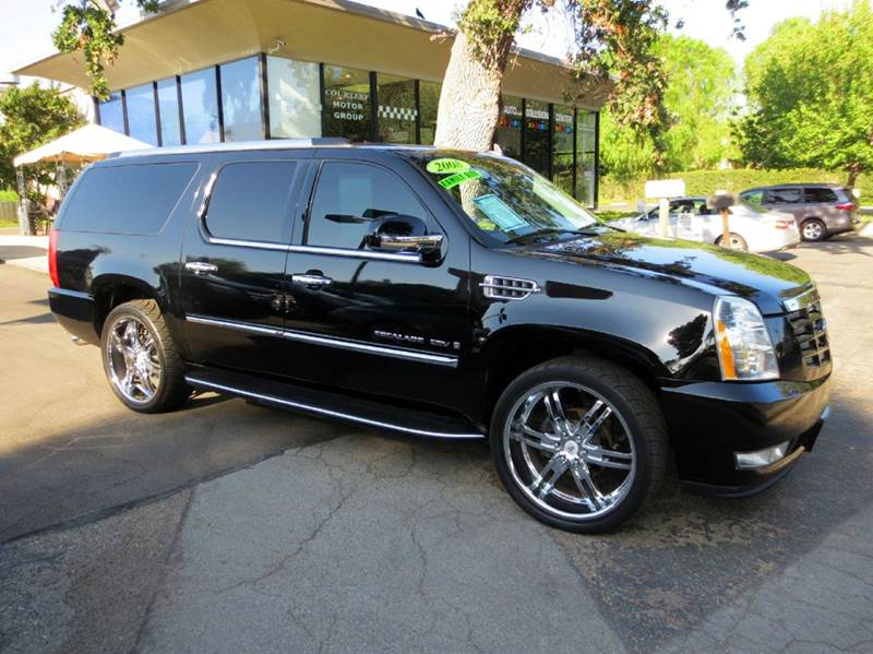 2008 CADILLAC ESCALADE ESV 4DR SUV black well equipped with  luxury collection  premium sound