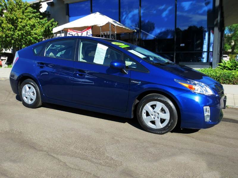 2010 TOYOTA PRIUS IV 4DR HATCHBACK blue ribbon metalic nicely equipped with solar roof pkg navig