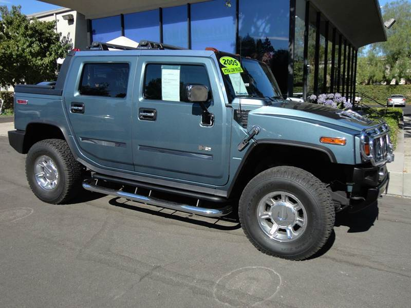 2005 HUMMER H2 SUT 4WD 4DR CREW CAB SB PICKUP stealth gray got to see it to believe how nice this