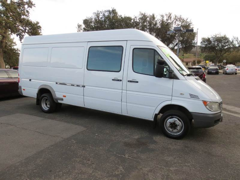 2006 DODGE SPRINTER CARGO 3500 HIGH ROOF 158 WB 3DR EXTEND white longest and the tallest with dua