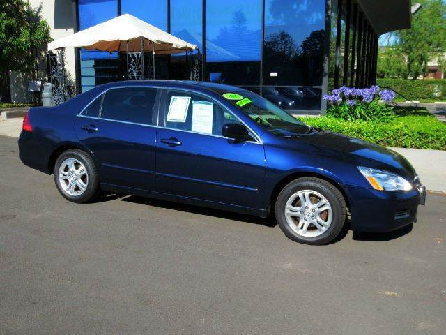 2007 HONDA ACCORD EX-L WNAVI 4DR SEDAN WNAV blue nicely equipped with  navigation  power se