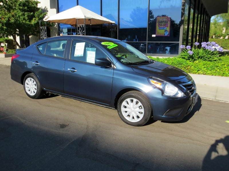 2015 NISSAN VERSA 16 SV 4DR SEDAN graphite blue  great buy for under 11000 includes remainde