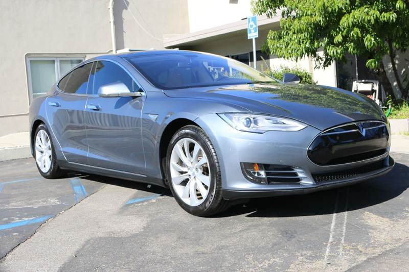 2014 TESLA MODEL S 60 4DR LIFTBACK gray memorial day sale  nicely equipped with panoramic roof