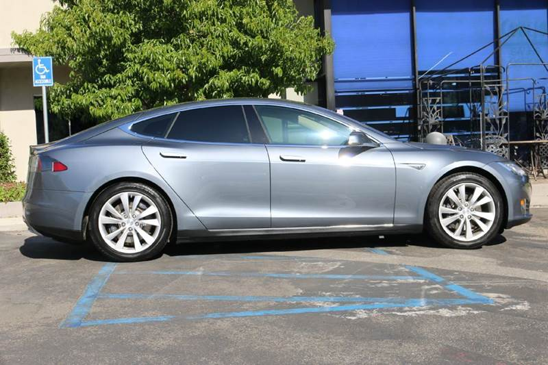 2014 TESLA MODEL S 60 4DR LIFTBACK gray nicely equipped with panoramic roof navigation nappa le