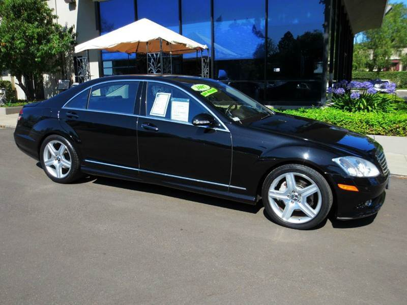 2007 MERCEDES-BENZ S-CLASS S550 4DR SEDAN obsidian black well equipped with  amg sport pkg  pr