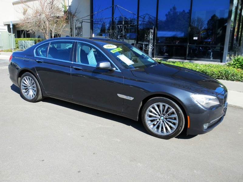 2012 BMW 7 SERIES 740I 4DR SEDAN gray well equipped navigation with rear view monitor 19 sport