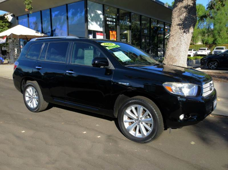 2008 TOYOTA HIGHLANDER HYBRID LIMITED AWD 4DR SUV black nicely equipped awd with navigation rear