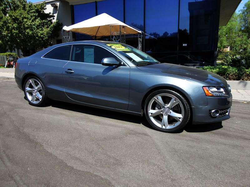 2012 AUDI A5 20T QUATTRO PREMIUM PLUS AWD 2D monsoon gray nicely equipped with navigation back u