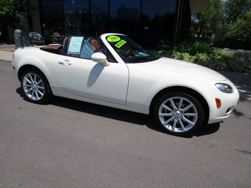 2006 MAZDA MX-5 MIATA GRAND TOURING 2DR CONVERTIBLE white memorial day sale  fun in the sun  n