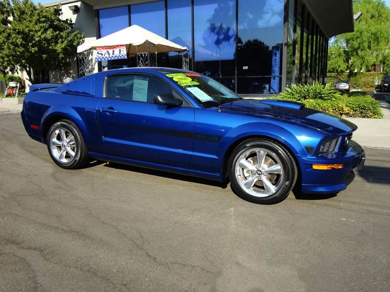 2008 FORD MUSTANG GT PREMIUM 2DR COUPE blue clean carfax gt california special package excell