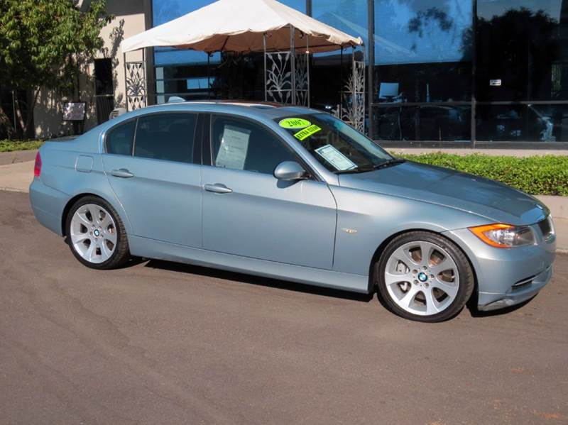 2007 BMW 3 SERIES 335I 4DR SEDAN blue nicely equipped with  premium pkg  sport pkg  navigati