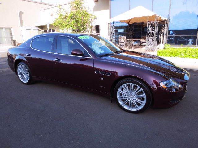 2011 MASERATI QUATTROPORTE S 4DR SEDAN bordeaux elegantly equipped with paddle shift front comfor