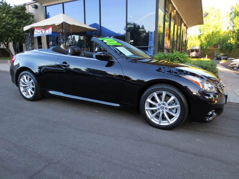 2011 INFINITI G37 CONVERTIBLE BASE 2DR CONVERTIBLE obsidian black  great color combo black wit