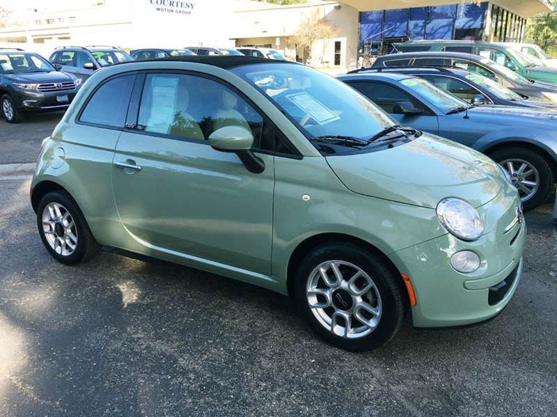 2012 FIAT 500C POP 2DR CONVERTIBLE green fun n the sun just in time to go topless power soft to