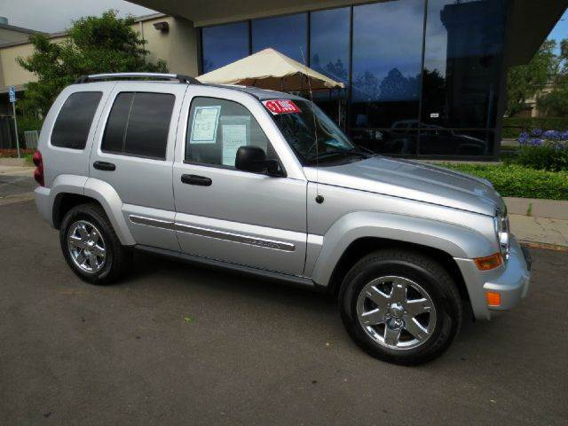 2007 JEEP LIBERTY LIMITED 4DR SUV silver nicely equipped with leather moon roof chrome wheels