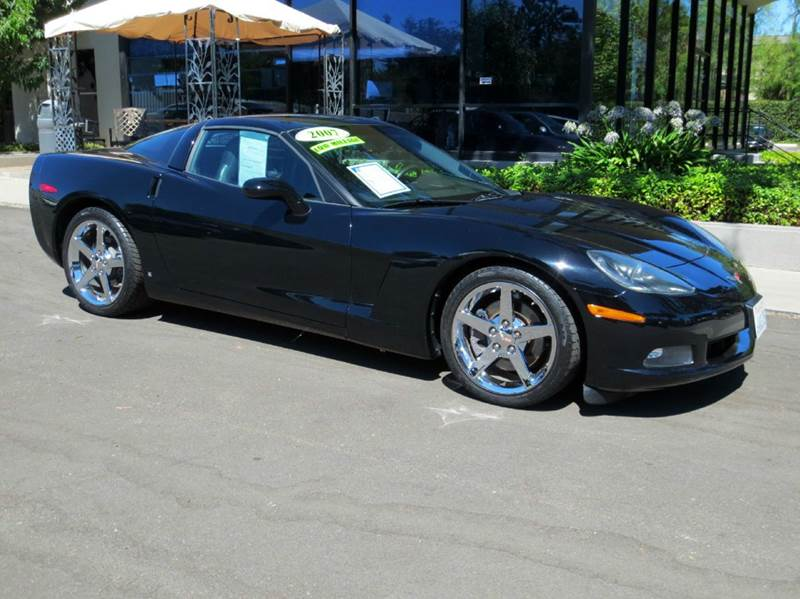2007 CHEVROLET CORVETTE 2DR COUPE black nicely equipped low mileage with leather chrome wheels