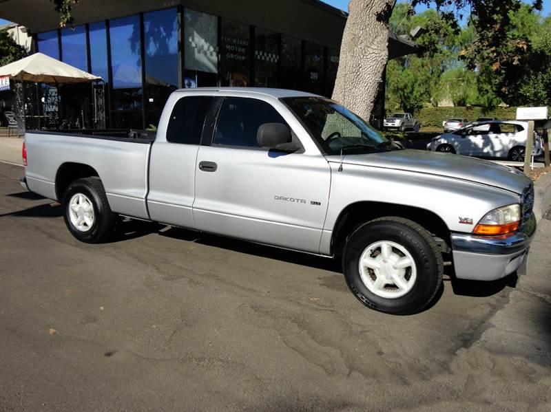 1998 DODGE DAKOTA SLT 2DR EXTENDED CAB SB silver  1 owner extra clean only 84406 miles slt w