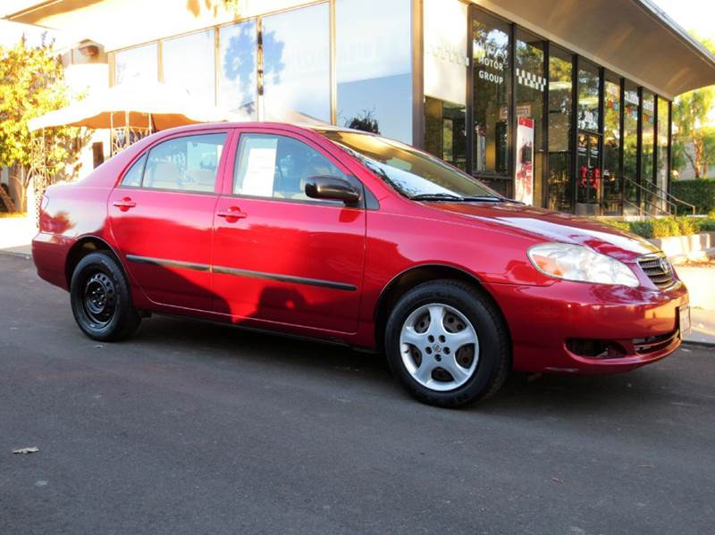 2006 TOYOTA COROLLA CE 4DR SEDAN WAUTOMATIC red reliability comfort and fuel efficient rated a