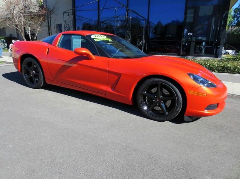 2013 CHEVROLET CORVETTE BASE 2DR COUPE W1LT orange exceptionally low mileage truly a world clas
