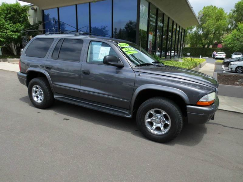 2003 DODGE DURANGO SLT PLUS 4WD 4DR SUV charcoal nicely equipped 4x4 with 3rd row seat leather