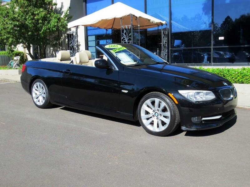 2011 BMW 3 SERIES 328I 2DR CONVERTIBLE SULEV black nicley equipped with  premium pkg includes