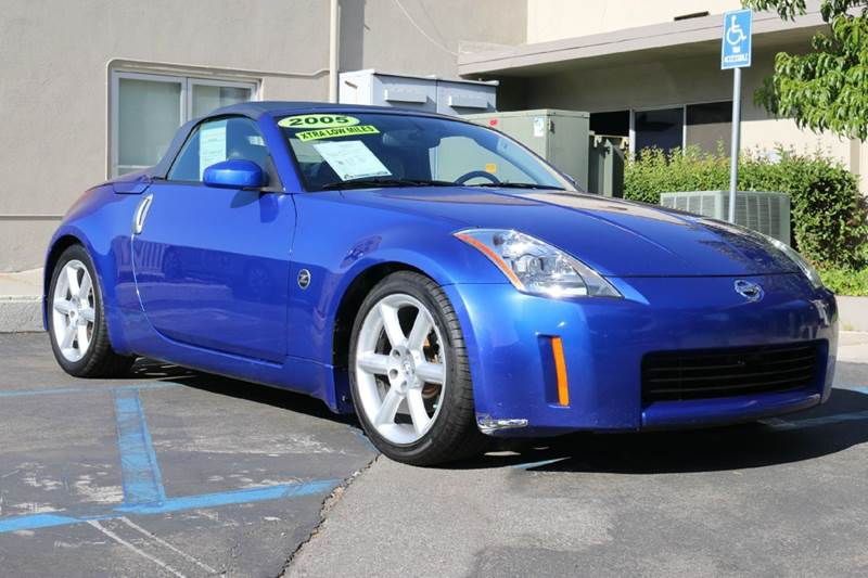 2005 NISSAN 350Z TOURING 2DR ROADSTER daytona blue nicely equipped low mileage z with navigation