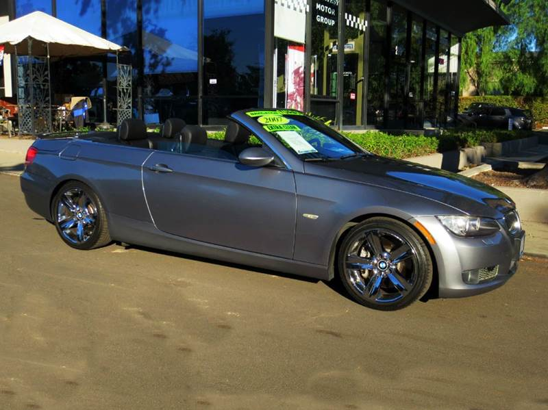 2007 BMW 3 SERIES 335I 2DR CONVERTIBLE space gray  twin turbo 30 l v-6 hard top convertible pr