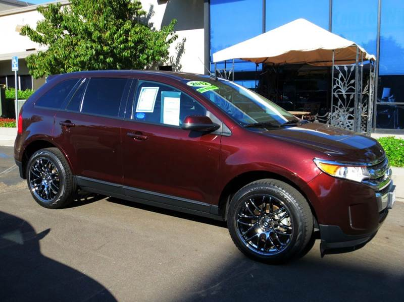 2012 FORD EDGE SEL 4DR SUV cinnamon met wquipped with  premium chrome oversizes wheels  towin